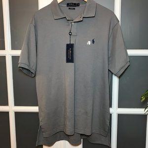 NWT Men's XL Gray Ralph Lauren Polo